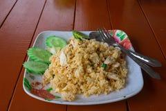 Riz frit de poulet image libre de droits