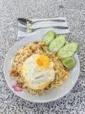Riz frit et oeuf sur le plat Photo libre de droits