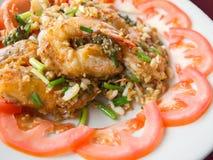 Riz frit Thaïlande de crevette Photos libres de droits
