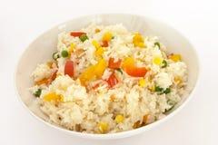 Riz frit végétal 2 images stock