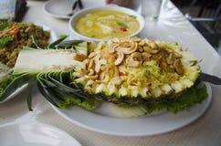 Riz frits de cari d'ananas Photographie stock libre de droits