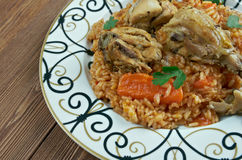 Riz gras  poulet Royalty Free Stock Photos