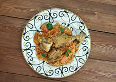 Riz gras  poulet Stock Photo