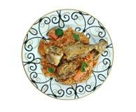 Riz gras  poulet Stock Image