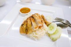 Riz grillé de poulet image libre de droits