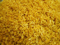 Riz jaune cuit photographie stock