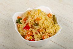 Riz mexicain photographie stock