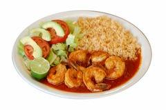 Riz mexicain de crevettes images libres de droits