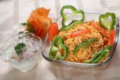 Riz mexicain, riz mexicain simple Images libres de droits