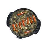 riz noir de Paella Photographie stock libre de droits