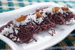 Riz noir Kavuni Idiyappam image stock