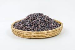 Riz noir thaïlandais de jasmin (baie de riz) Photos libres de droits