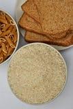 Riz, pain et pâtes Photo libre de droits