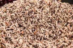 Riz, riz brun, riz rouge Images stock