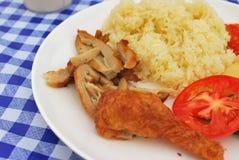Riz végétarien de poulet Images stock