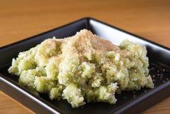 Riz vert doux, et noix de coco, brune photo libre de droits