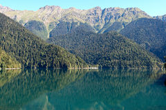 Abkhazia Lake Riza Royaltyfria Bilder