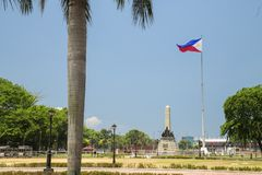 Rizal Luneta park, Manila, Philippines. With blue sky royalty free stock photo