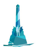 Rizal Monument Geometric Illustration. Rizal monument is a memorial in Rizal Park in Manila, Philippines built to commemorate the executed Filipino nationalist Royalty Free Stock Photos
