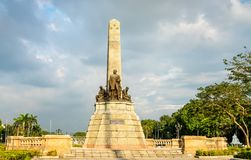 The Rizal Monument in Rizal Park - Manila, Philippines. The Rizal Monument, a memorial in Rizal Park - Manila, the capital of Philippines stock images