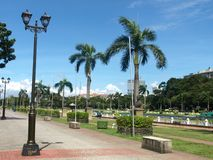 Rizal Park in Manila. Rizal Park, also known as Luneta Park or simply Luneta, is a historical urban park in the Philippines. Located along Roxas Boulevard stock photography