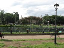 Rizal parkerar den centrala lagun, Manila, Filippinerna royaltyfri fotografi
