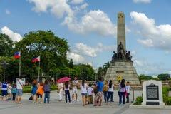 Rizal parkerar, Manila Royaltyfria Foton