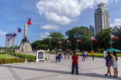 Rizal parkerar, Manila Arkivbilder