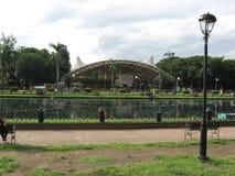 Rizal parkuje Å›rodkowÄ… lagunÄ™, Manila, Filipiny fotografia royalty free