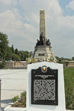 Rizal Shrine and plaque in Luneta during Rizal Day Royalty Free Stock Image