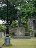 Rizal Statue. A statue in Manila, Intramuros of the poet, novelist and doctor and most of all, national hero of the Philippines, Jose Rizal stock image