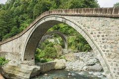Rize, double bridge, çifte koprü Stock Images