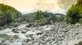 Rize, dubbele brug, çifte koprà ¼ Stock Afbeelding