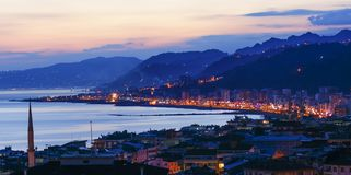 Rize stad i Turkiet Fotografering för Bildbyråer