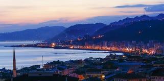 Rize-Stadt in der Türkei Stockbild