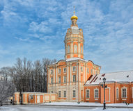 The Riznichnaya tower of The Alexander Nevsky lavra Royalty Free Stock Image