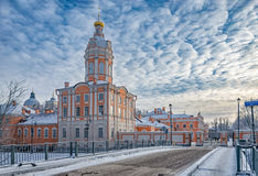The Riznichnaya tower of the Alexander Nevsky lavra Stock Image