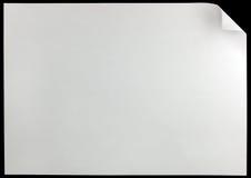 Rizo de la página blanca, aislado en espacio horizontal grande negro de la copia Imagenes de archivo