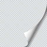 Rizo de la página con la sombra en la hoja de papel en blanco Imágenes de archivo libres de regalías