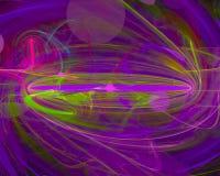 Rizo digital abstracto creativo, plantilla artística, elegancia, dinámica del fractal stock de ilustración