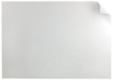 Rizo horizontal blanco de la página del papel A4, fondo aislado detallado grande del espacio de la copia Fotos de archivo libres de regalías