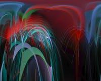 Rizo mágico creativo, plantilla artística, elegancia, dinámica del ornamento del fractal digital abstracto ilustración del vector