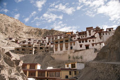Rizong Monastery in Ladakh. Buddhist monastery of Rizong. It was established in 1831 by Lama Tsultim Nima under the Gelukpa order, at Ri-rdzong Stock Photo