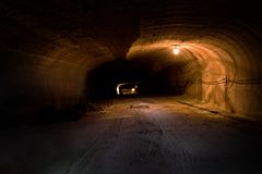 Rizontal tunnel Royalty Free Stock Image