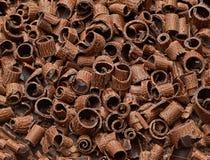Rizos del chocolate imagenes de archivo