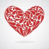 Corazón de rizos. Foto de archivo