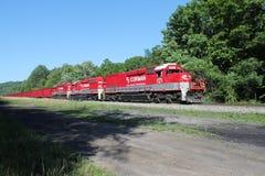 RJ科尔曼被装载的煤炭火车梭 库存图片