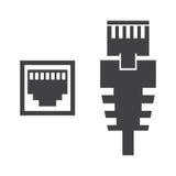 RJ45缆绳例证 免版税库存照片