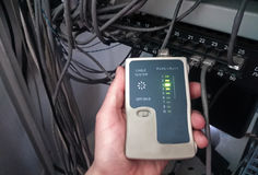 Rj45缆绳测试器 免版税图库摄影