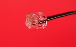 Rj-11 kabel stock afbeelding